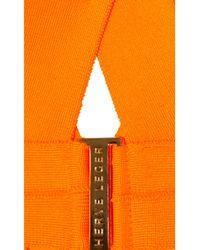 Hervé Léger Orange Bandage Triangle Bikini