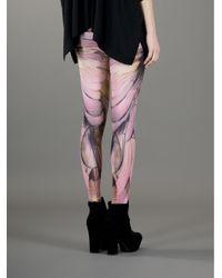 McQ Pink Wing Printed Leggings