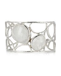 Monica Vinader | Metallic Nugget Sterling Silver Moonstone Cuff | Lyst