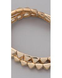 Noir Jewelry Metallic Pyramid Bracelet