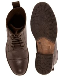 ASOS Brown Asos Workboots in Leather for men