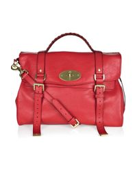 Mulberry | Red Oversized Alexa Leather Bag | Lyst