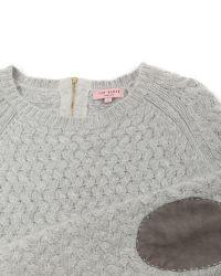 Ted Baker Gray Ammsa Basket Stitch Knit