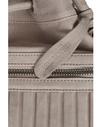 TOPSHOP Gray Ribbed Sporty Duffle Bag