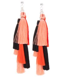 Jenny Jenny | Pink Multi Tassel Earrings | Lyst