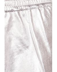 Maje - Ayo Metallic Leather Shorts - Lyst