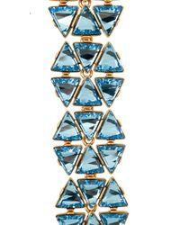 Oscar de la Renta - Blue Triangle Swarovski Bracelet - Lyst