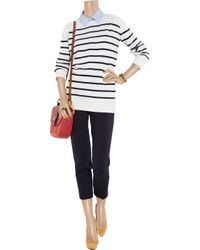 The Row - Blue Striped Cashmere Sweater - Lyst