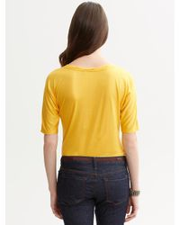 Banana Republic - Yellow V-Neck Dolman Top - Lyst