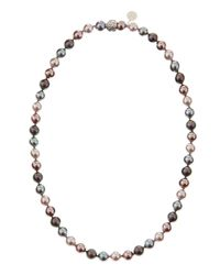 Majorica | Multicolor Singlestrand Pearl Necklace | Lyst