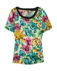 Marc By Marc Jacobs | Green Havana Printed Silk-satin Top | Lyst