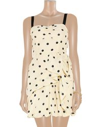 Marc By Marc Jacobs Natural Hot Dot Ruffled Silk Dress