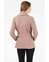 Oasis | Brown Biker Drape Coat | Lyst