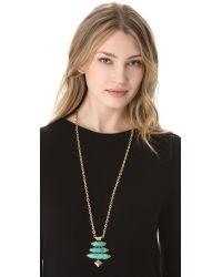 Gemma Redux - Metallic Turquoise Pendant Necklace - Lyst