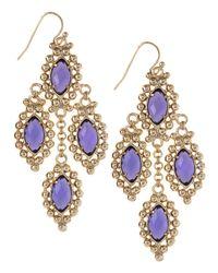 Kendra Scott | Purple Fiona Earrings | Lyst