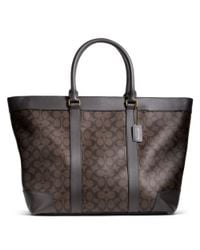 COACH - Brown Bleecker Signature Weekend Tote - Lyst