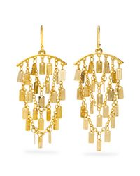 COACH | Metallic Lozenge Chandelier Earrings | Lyst