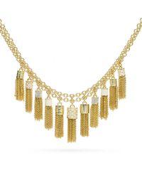 COACH | Metallic Tassel Bib Necklace | Lyst
