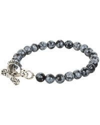 King Baby Studio | Blue Snowflake Agate Bracelet with Toggle Clasp for Men | Lyst
