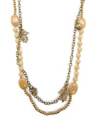 Mango | Metallic Charms Long Necklace | Lyst