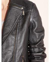Mary Portas Black Metallic Biker Jacket