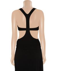 Michael Kors Black Cutout Cashmere-blend Bodysuit