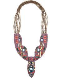 Nicole Miller | Multicolor Multi Bead Bib Necklace | Lyst