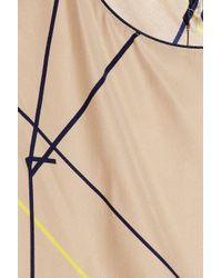 Piamita Natural Erin Printed Silk Pajama Top