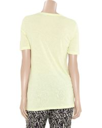 T By Alexander Wang   - Stretch-jersey Tank - Pastel Yellow   Lyst