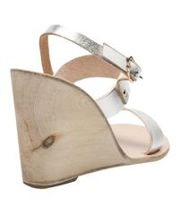 Ancient Greek Sandals Metallic Clio Wedge Sandal