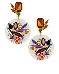 ASOS | Multicolor Jewel Perspex Disc Earrings | Lyst