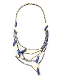Iosselliani - Blue Multi Strand Crystal Necklace - Lyst