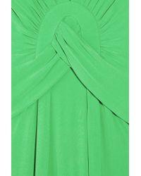 Issa - Green Silk-jersey Gown - Lyst