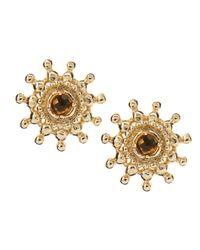 Kendra Scott - Metallic Dryden Smoky Quartz Earrings - Lyst