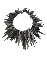 Monies | Black Spiked Necklace | Lyst