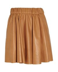 Acne | Brown Romantic Leather Skirt | Lyst