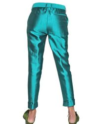 Haider Ackermann | Blue Silk Shantung Trousers | Lyst