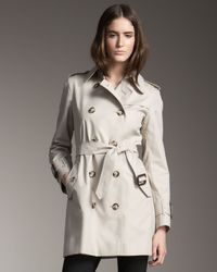 Burberry Brit | Gray Marystow Coat Trench | Lyst