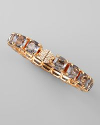 Fragments - Metallic Square Crystal Bracelet - Lyst