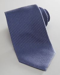 Armani Blue Fleck Print Silk Tie for men