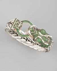 John Hardy - Green Naga Dragon Head Bracelet - Lyst