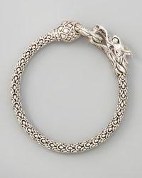 John Hardy - Metallic Diamondring Naga Dragon Bracelet - Lyst