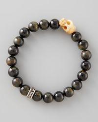 King Baby Studio | Black 10mm Blue Tiger Eye Bead Bracelet for Men | Lyst