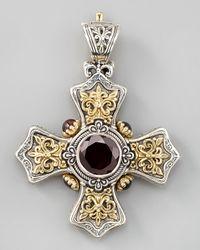 Konstantino | Metallic Garnet Cross Pendant | Lyst