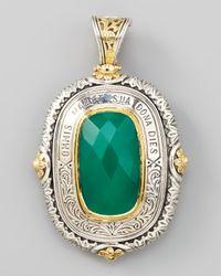 Konstantino Green Onyx Pendant