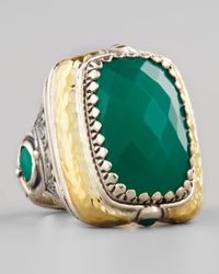 Konstantino | Green Onyx Square Ring | Lyst
