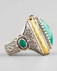 Konstantino Green Onyx Square Ring