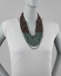 Nakamol | Green Beaded Multistrand Necklace | Lyst