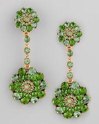 Oscar de la Renta - Evergreen Crystal Drop Earrings - Lyst
