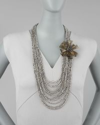 Panacea | Metallic Multistrand Necklace | Lyst